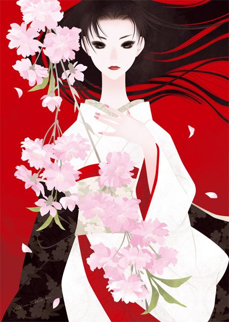 桜 Exhibition 2013「八重紅枝垂れ」