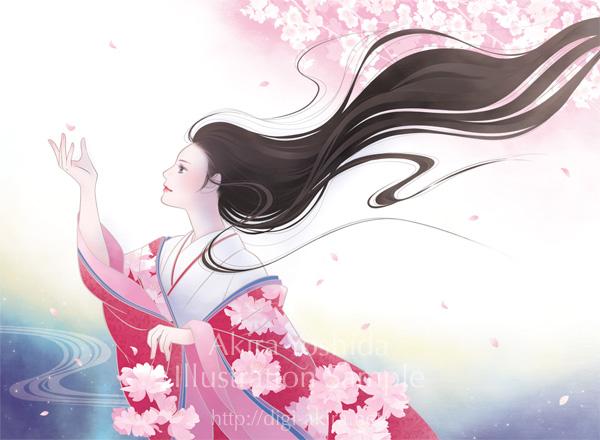 「桜 Exhibition 2019」メインビジュアルイラスト